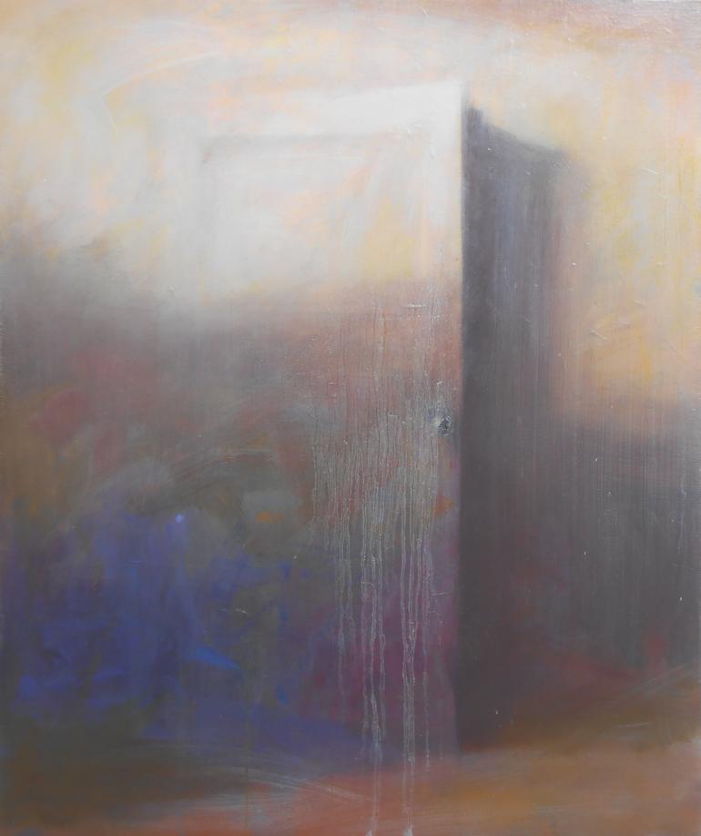 Home-閉め忘れの扉-キャンバスに油彩